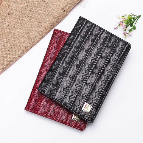 Knitted Grain Pure Color Foldable iPad Cover Case gallery 7