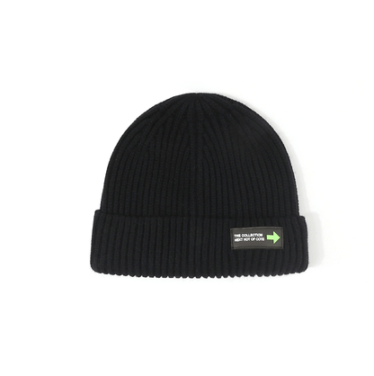 6 Colors Rib Knit Cuffed Beanie Hat With Tag gallery 6