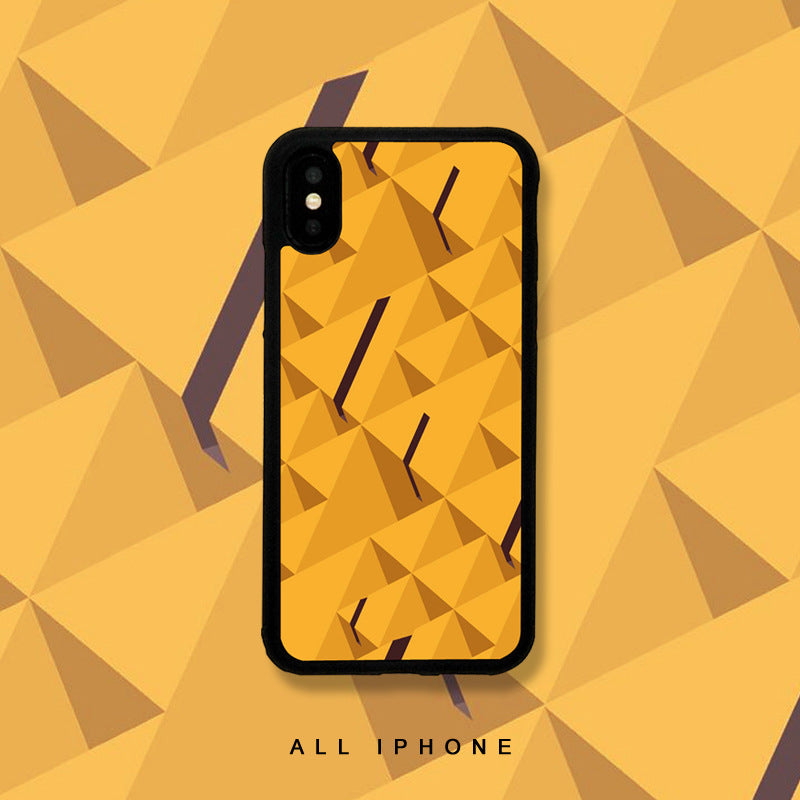 Abstract Geometric Pattern Print iPhone Case