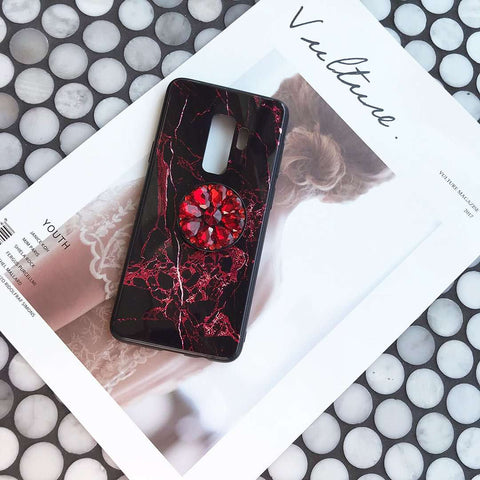 Luxury Marble Pattern Phone Case for Samsung with Phone Holder gallery 3
