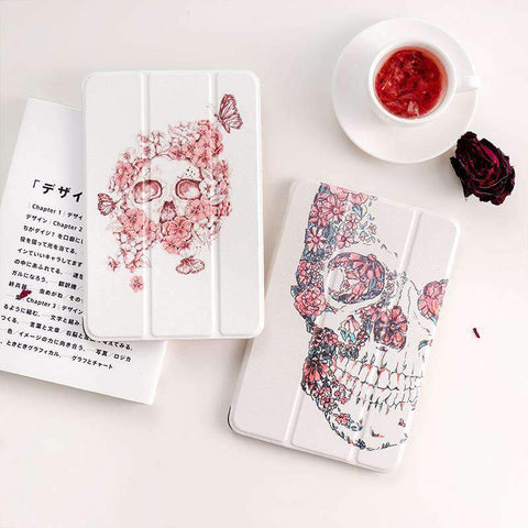 Creative Flower Butterfly Skull Apple iPad Cover Case gallery 2
