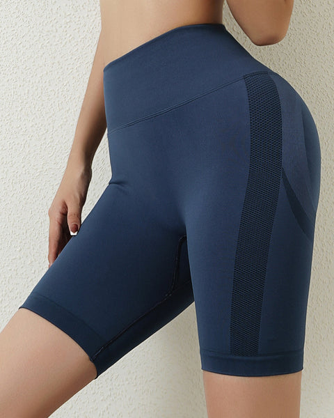 Space Dye Textured Seamless Butt Lifting Sports Shorts gallery 16