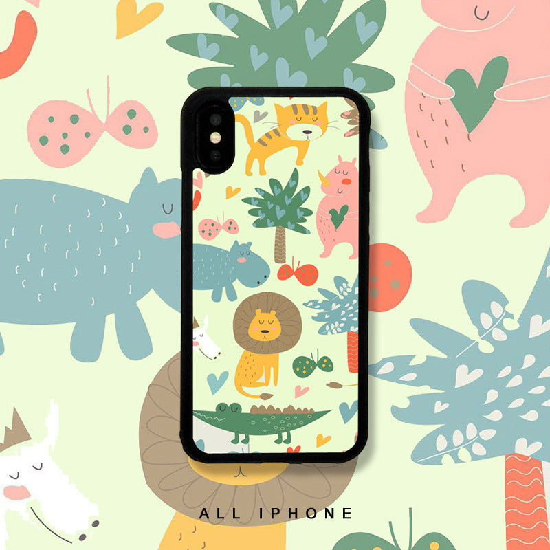 Zoo Animals Cartoon Pattern iPhone Case
