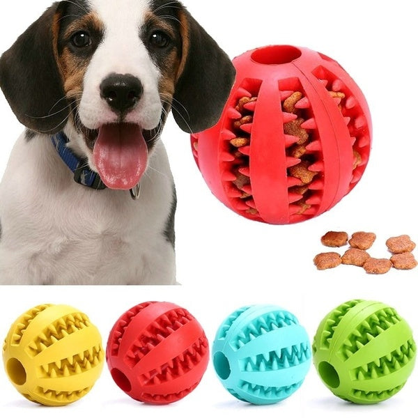 Puppy Pet Dog Rubber Ball Durable Chew Toy