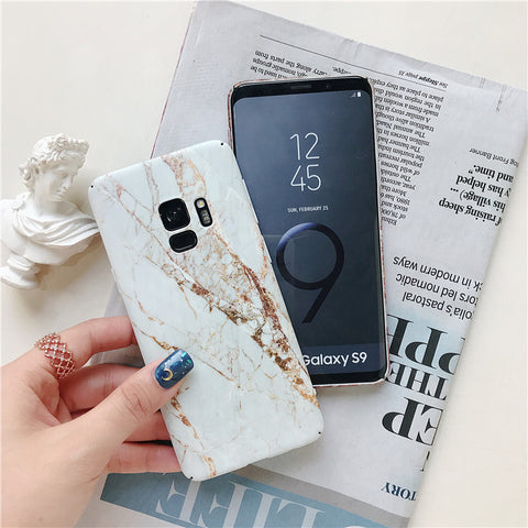 Matte Marble Printed Phone Case For Samsung gallery 6