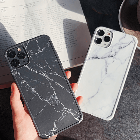 Simple Marble Pattern Crack Detail iPhone Case