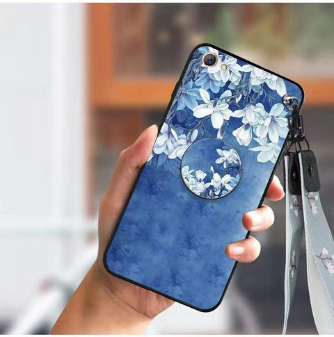 Literary Floral Pattern Phone Case for Samsung with Phone Holder gallery 4