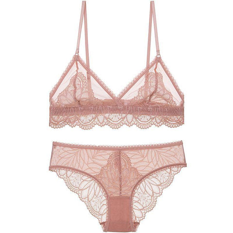 Sexy Sheer Floral Lace Lingerie Set
