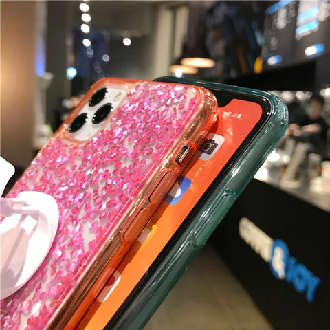 Four Colors Glittering Rhinestone Phone Case for Samsung with Phone Holder gallery 2