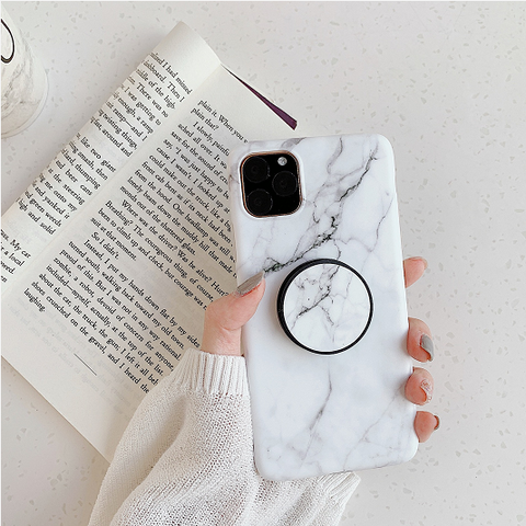 Marble Print Phone Case for Samsung with Phone Holder gallery 3