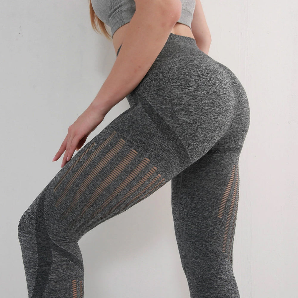 High Waist Hip Lifting Compression Sports Leggings