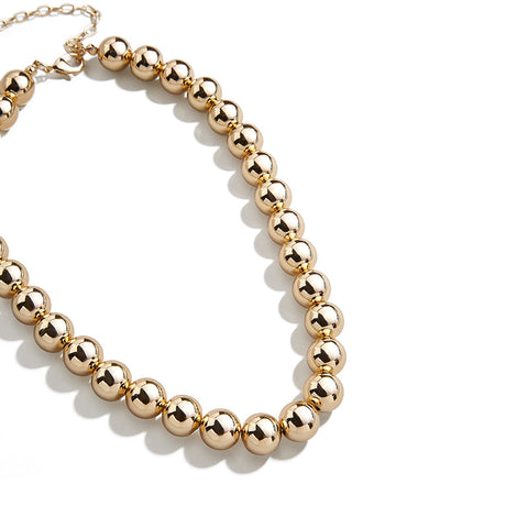Gold Bead Strand Necklace