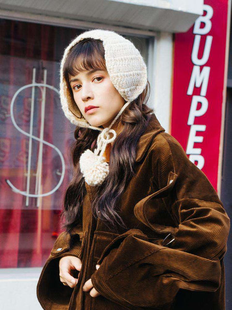 Women's Winter Cute Knitted Thick Ear Hat gallery 3