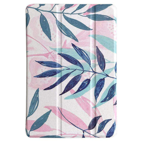 Contracted Literary Leaves Painted Apple iPad Cover Case gallery 1
