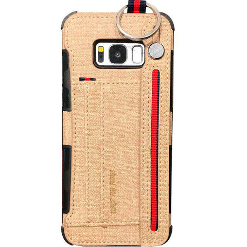 Luxury Lint Phone Case for Samsung with Wrist Strap gallery 5