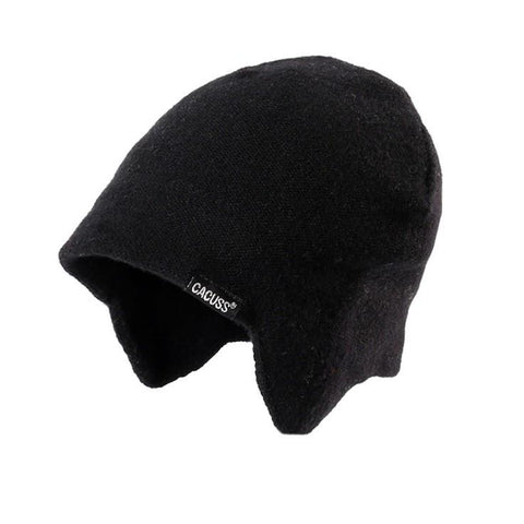 3 Colors Solid Wool Knit Earflap Beanie gallery 3