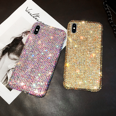 Luxury All-Over Diamante Stud Phone Case for Samsung gallery 3
