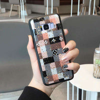 Luxury Leopard & Grid Print Soft  Case for Samsung