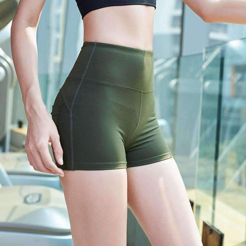 Breathable High Elasticity Fitness Sports Yoga Shorts gallery 4