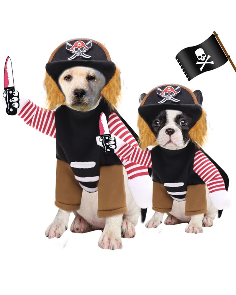 Halloween Pirate Pattern Dog Coat