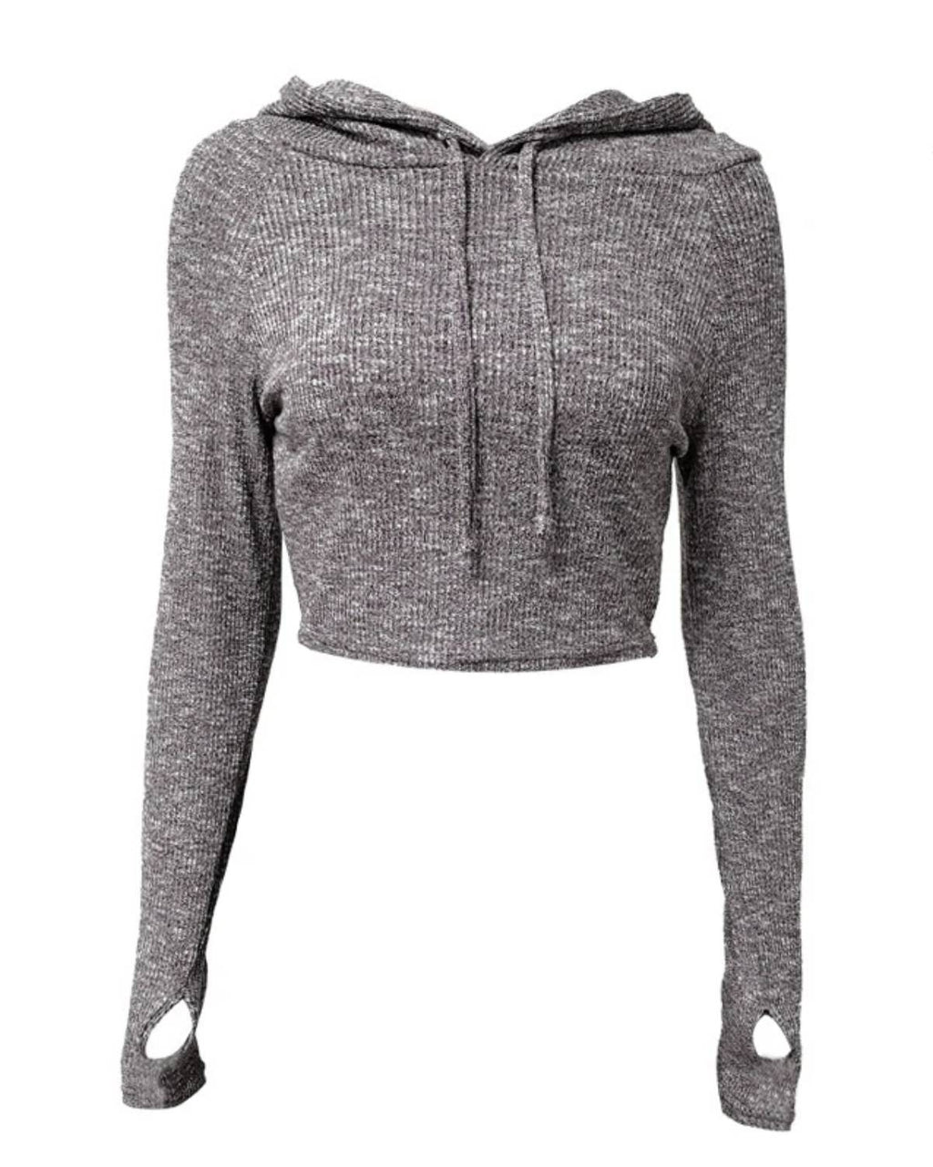 Thumb Holes Crop Hoodies