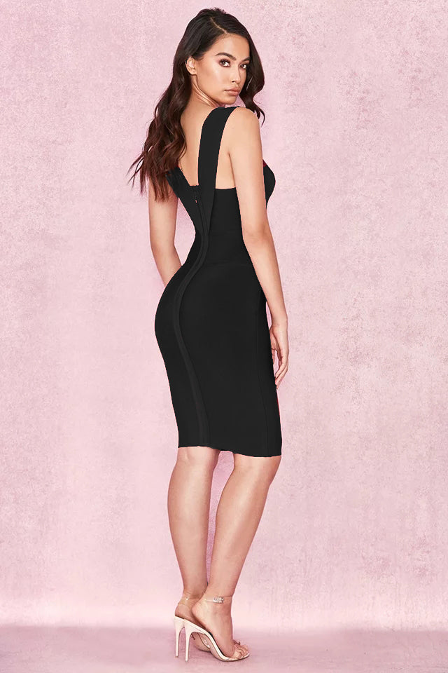 Sexy Deep V Neck Bodycon Dress