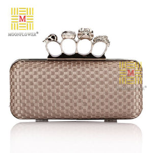 Knuckle Duster Handle Evening Bag Clutch Purses