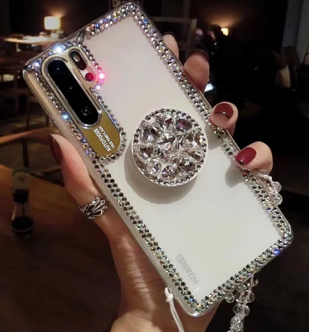 Silver Diamond Decorate Design Phone Case for Samsung