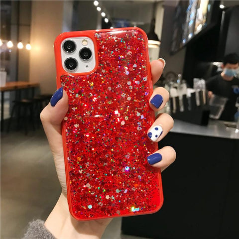 Luxury Sparkle Sequins Bling Shockproof Phone Case for Samsung gallery 2