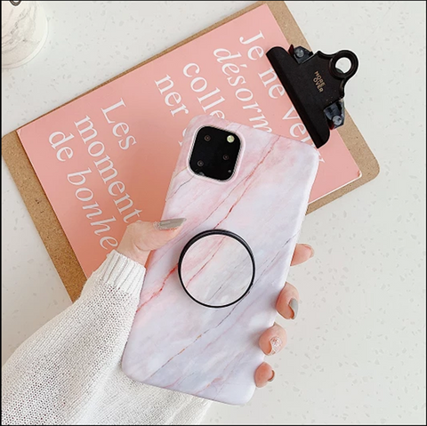 Pink Marble Print Phone Case for Samsung with Phone Holder gallery 7
