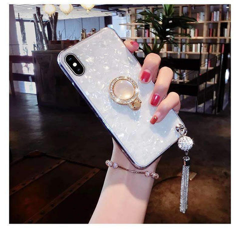 Elegant Shell Glittering Phone Case for Samsung with Shining Phone Holder gallery 4