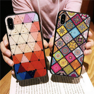 Retro Ethnic Style Soft Silica Gel Phone Case for iPhone