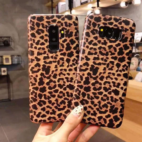Retro Leopard Phone Case for Samsung gallery 1