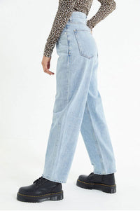 Loose High Waist Irregular Jeans