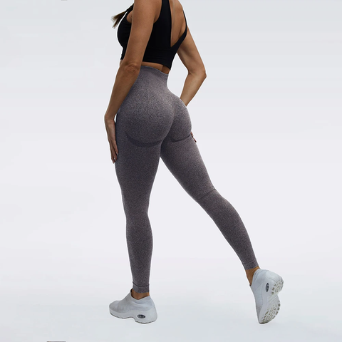 High Waist Butt Lifting Breathable Seamless Workout Leggings gallery 7