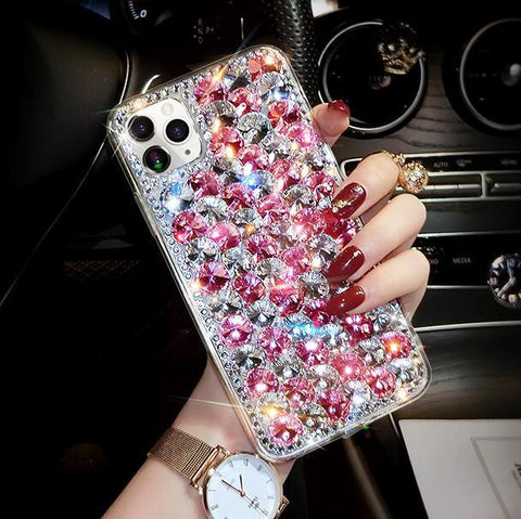 Full Rhinestone Cover Shockproof Phone Case for Samsung gallery 8