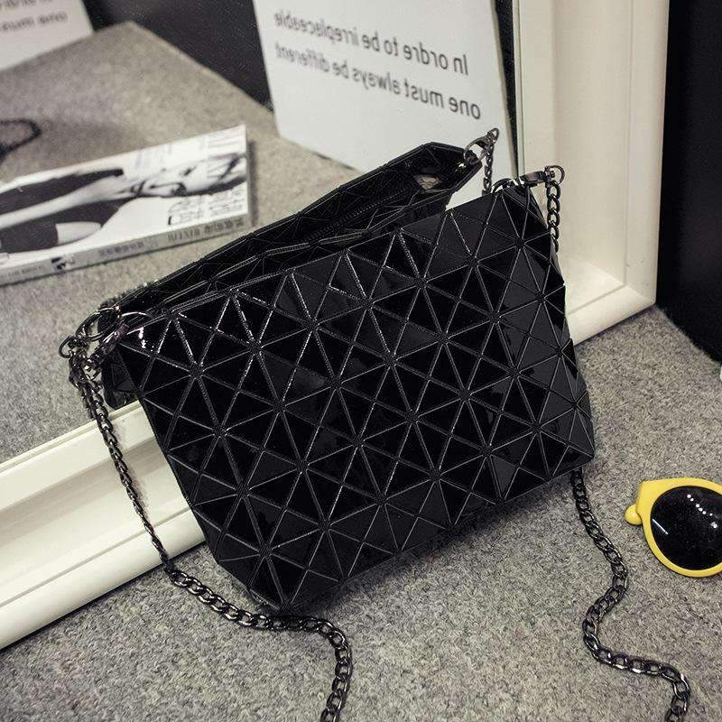 Fashion Geometric Cosmetic Chain Shoulder Bag