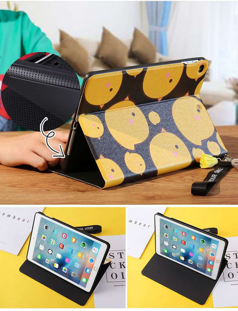 Lovely Yellow Chicken Painted Apple iPad Cover Case gallery 4