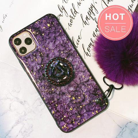 Marble iPhone Case With Phone Holder
