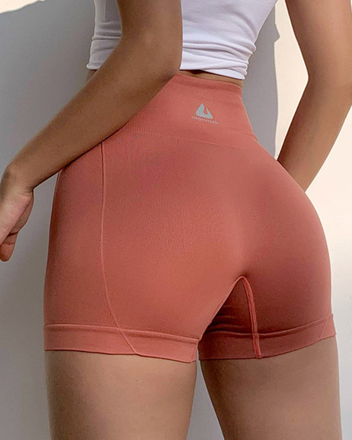 Letter Print Wide Waistband Stitch Trim Sports Shorts gallery 13