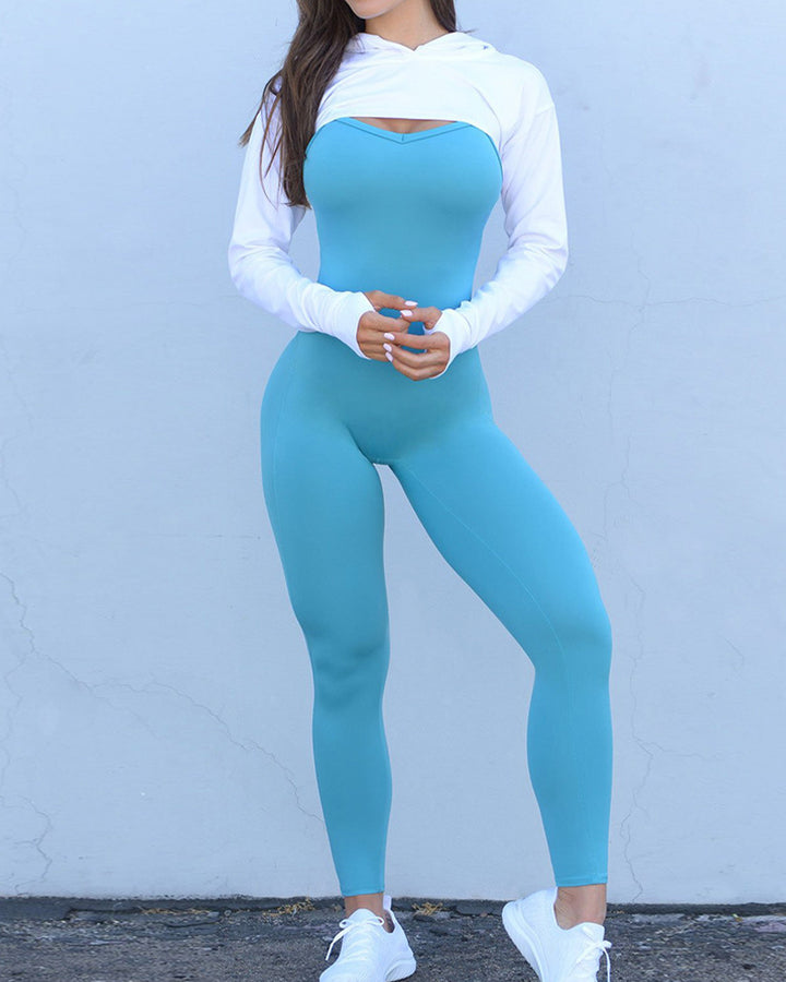 Criss Cross Cut Out Back Sports Jumpsuit gallery 8