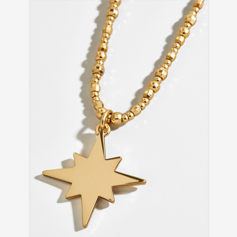 Gold Star Shape Pendent Necklace