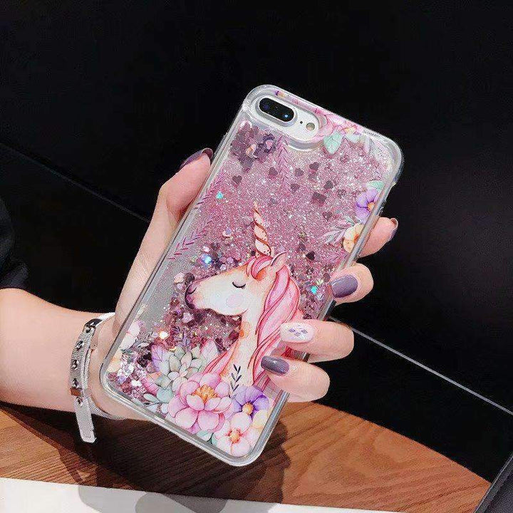 Floral Pattern Cute Horse Heart Fragments Samsung Case gallery 3