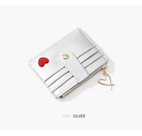 Heart Print Leather Card Holder gallery 9