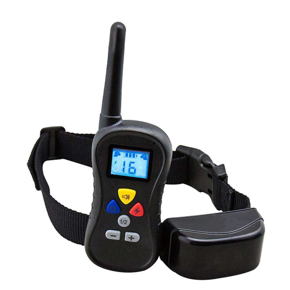 Sound Vibration and Electric Shock Remote Control Pet Dog Barking Control Collar