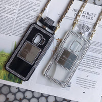 Luxury Perfume Design Phone Case for Samsung with Leather Strap