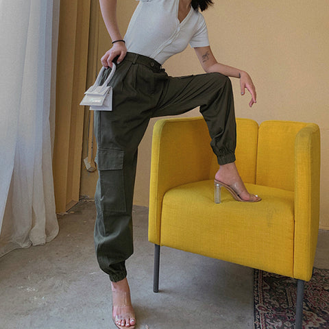 High Waist Straight Leg Cargo Trousers gallery 14
