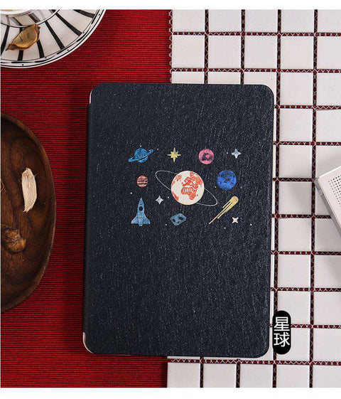Thin Rose Planet Painted Apple iPad Cover Case gallery 2