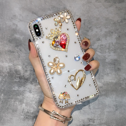Luxury Tower/Heart Floral Pattern Phone Case for Samsung gallery 4