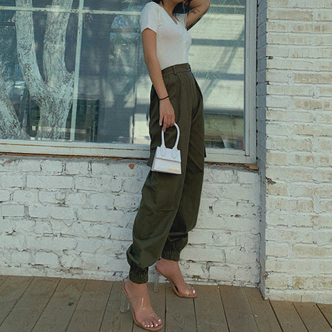 High Waist Straight Leg Cargo Trousers gallery 12